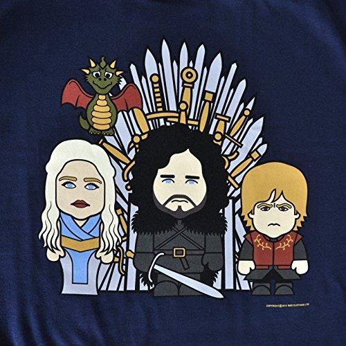 Toonstar - Camiseta con motivo Cartoon Trono de Hierro de alta calidad - Algodón - Azul - XS