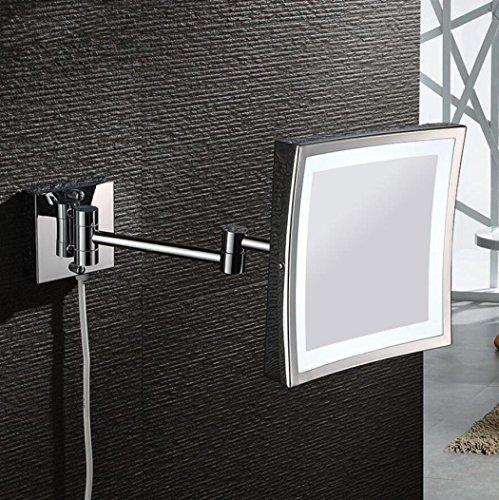 LyMei LED doppelseitiger Kosmetikspiegel - Kosmetikspiegel, 360 ° Free Rotation 3X/Vergrößerung Beauty Mirror