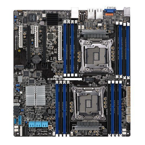 ASUS Z10PE-D16/10G-2T ASMB8-iKVM 2x10GbE 2Socket LGA 2011-3 Intel C612 PCH 4-Channel 16-Slots max. 1024GB DDR4 Server Motherboard
