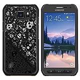 Graphic4You Skull Death Theme Muster Design Harte Dünn Hülle Tasche Schale Schutzhülle für Samsung Galaxy S6 Active