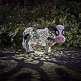 garden mile solar betrieben Aufleuchtend LED Giraffe klicken Kupfer Optik Metall Garten Tiere Skulpturen umwerfend Vielseitige Garten Dekoration Decoration - Cow