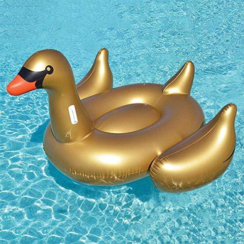 Original cup - materassino gonfiabile cigno dorato - pvc - galleggiante piscina