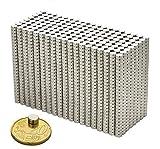 M&H-24 Mini Magnete Extra Stark, 20 Stück Neodym-Magnete für Magnettafel, Whiteboard, Kühlschrank, 6x3mm - 3