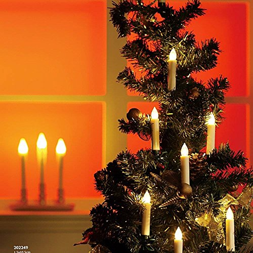 Sin llama Parpadeo LED Velas,Impermeable Luz del té de la vela Con clips extraíbles y 7 teclas Control remoto, Para el hogar, Votivo, Boda, Navidad, Árbol, Jardín, Cumpleaños, Decoración de fiesta (30Pcs caliente blanco)