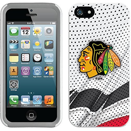 Coveroo iPhone 5/5S White-Grey New Guardian Case with Chicago Blackhawks Away Jersey Design Chicago Blackhawks Jersey Away