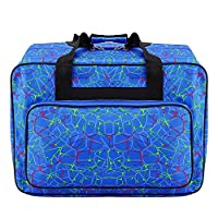 4 Styles Sewing Machine Bag Portable Travel Storage Bag Large Capacity Sewing Machine Carrying Case Multifunctional Sewing Tools Hand Bag Unisex Tote Bag w/Handle for Sewing Machine & Accessories (D)