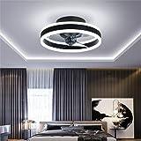Ventilateur Plafonnier, Ventilateur de Plafond Silencieux avec Éclairage et Télécommande Plafonniers Ultra-minces 16.5cm Plaf
