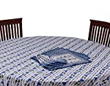 Chhipaprints Round Table Cover Blue Bord...
