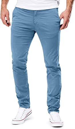 Merish Uomo Pantaloni Chino Cotone Jeans Pantaloni Casual Pantaloni Figura-sollecitato Diversi Colori, Modell 168