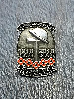 Limited Edition 1918-2018 100th Anniversary First World War Lone Soldier Veterans Red Flower Enamel Pin Badge Brooch