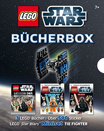 Preisvergleich Produktbild LEGO Star Wars Bücher-Box: 3 LEGO Bücher - Über 500 Sticker - LEGO Star Wars Miniset TIE Fighter