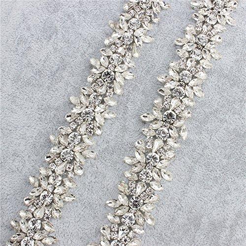 Strass Applique Trim durch den Hof mit atemberaubenden Kristallen für Hochzeitskleid Gürtel oder Kleider (Splitter)