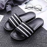 LJLLINGA Men Slippers Home Soft Breathable Flat Slides Non-Slip Unisex Indoor Bathroom Slippers Comfy Sandals