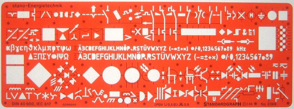 Metric Electrical and Electronic Installation Symbols Drawing ...
