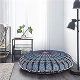 81,3cm Sol indien Housse de coussin rond Mandala fait à la main Housse de pouf Coton bohémien Décor Pouf couvertures Chambre à coucher Décor par Artboxstore