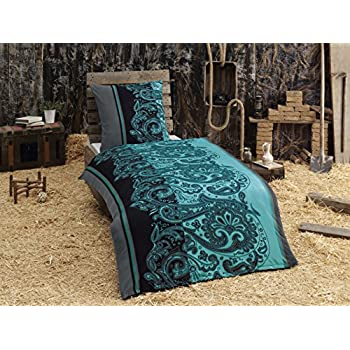 4 teilig microfaser flausch fleece bettw sche petrol grau schwarz gratis 1x schal gratis 2x. Black Bedroom Furniture Sets. Home Design Ideas