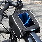 Roswheel Bicicletta Borsa Manubrio Bicicletta Tubo Superiore Anteriore Pannier della Struttura Borsa a Doppia Borsa Per Cellulare di 5.5inch