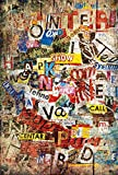 Fototapete GRUNGE TYPO 115x175 Collage im Graffiti-Stil, moderner Giant Art Pop