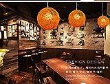 HEYUN-couleur-personnalit-crative-lampe-lustre-Restaurant-Bar-Caf-balle-en-rotin-pastoral-Ma-lustre-boule-Color-Orange-25cm