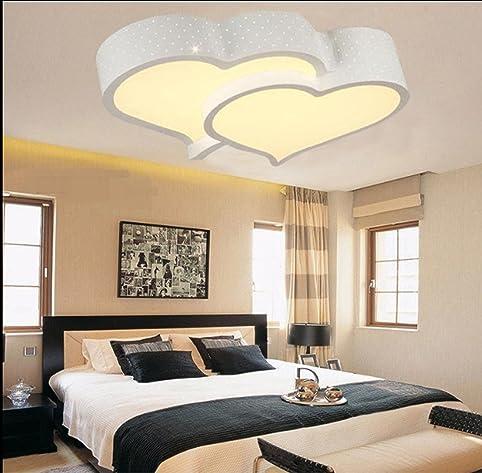 ZQ LED Herzförmige Decke Lampen Mädchen Kinder Zimmer Schlafzimmer  Leuchtlampen Romantische Hochzeit , White Remote Control: Amazon.de:  Beleuchtung