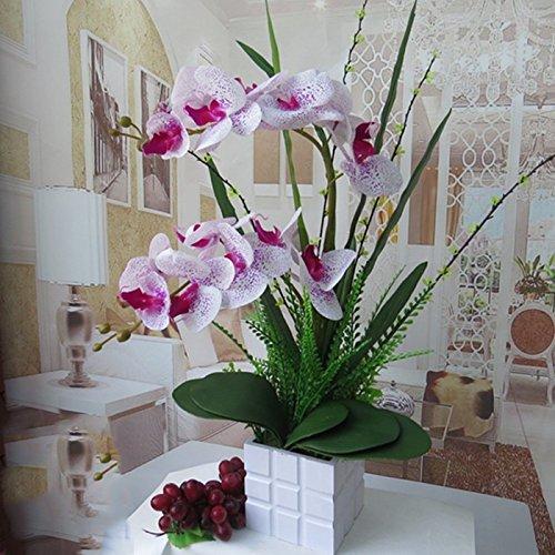 LIXIAOXIN Butterfly Orchid Simulation Set False Dekoration Weiss Violett