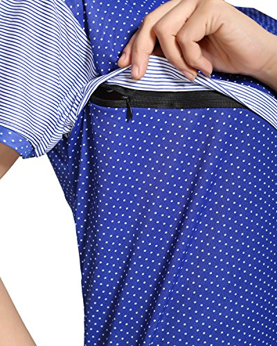 Tucute-Womens-Dotted-Print-Blue-Feeding-Maternity-Nursing-Nighty-Style-1253