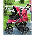 Pet Gear AT3 No-Zip Stroller, Rugged Red 10