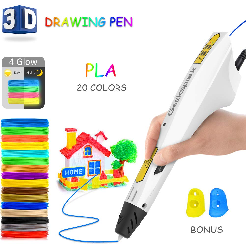 3D Printing Pen Crafting Doodle Drawing Arts Printer Modeling PLA//ABS For Child