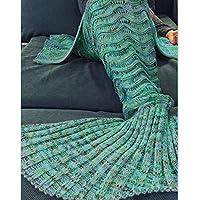 Sirena de invierno mantas colas de peces manta tejer tejer expone el trenzado salón y sofá