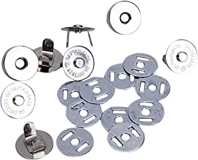 AKORD––Set di 10chiusure magnetiche per sacchetto, Argento, 18mm