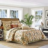 Tommy Bahama Kamari Comforter Set, California King, Medium Orange