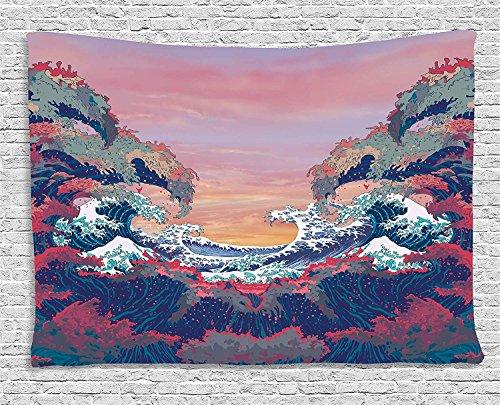 Yo Chairon Wandbehang Überwurf Wandteppich, modernes Deko, Heimdekoration, für Büro, Kitchen Schlafzimmer, Wohnzimmer, Dekoration, Multi, 39.4x59inch (Modern Wandteppich Wandbehang)