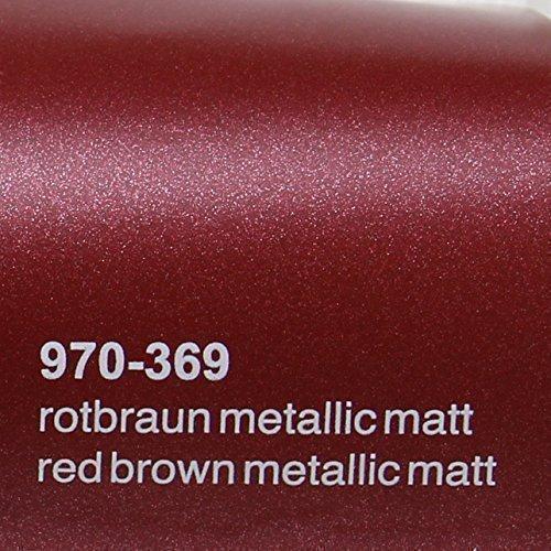 Preisvergleich Produktbild Oracal 970RA 369 Rot Braun Matt Metallic gegossene Profi Autofolie 152cm breit BLASENFREI mit Luftkanäle