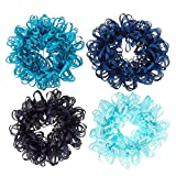 Claire's Girl's 4 Pack Shades of Scrunchies Blue.