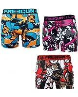 FREEGUN - Pack surprise - lot de trois boxer homme
