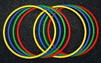 agility sport pour chiens - lot de 8 cerceaux Ø 60 cm, 4 coloris - 8x R60ybrg