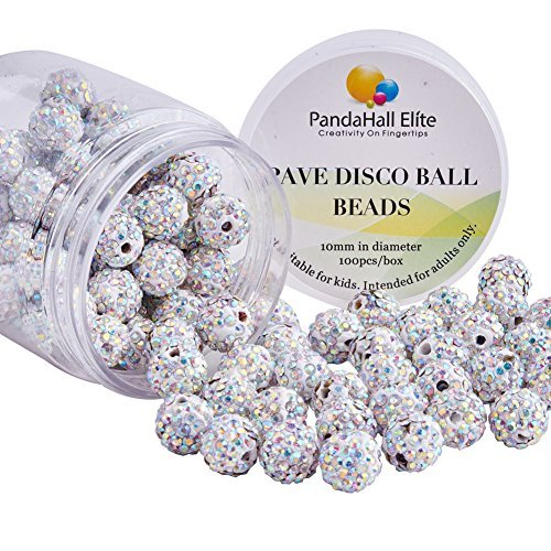 pandahall Elite 10 mm bunt Light Siam Crystal Loose Spacer Pave Disco perlen