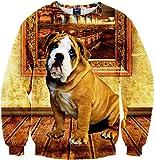 Pizoff Unisex Hip Hop Sweatshirts mit Bunt 3D Digital Printing Muster