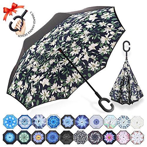 ZOMAKE Paraguas de Doble Capa Invertido