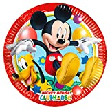 Perona-81840 Pack 8 platos 20 cm, Mickey Mouse, Multicolor, (50861)