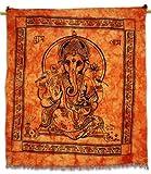 ganesha del señor rojo indio gran pared tapiz decoración corredor de la tabla sábana arte indio 94 x 81 pulgadas