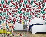 Yosot 3d Les Bonshommes De Noël Cadeaux Père Noël Dessin Animé Fond D'Écran...