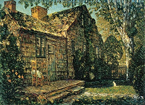 Lane Old Print (Das Museum Outlet - Little Old Cottage, Ägypten Lane, East Hampton, 1917 - Poster Print Online kaufen (152,4 x 203,2 cm))
