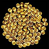 Solar Starry Fairy String Light, Emwel 22M/72FT 200 LEDs 8 Models Outdoor Solar Powered LED String Lights Waterproof Copper Wire Lights Festival Decorative Rope Garden Twinkle Light for Party Homes Wedding (Warm White)