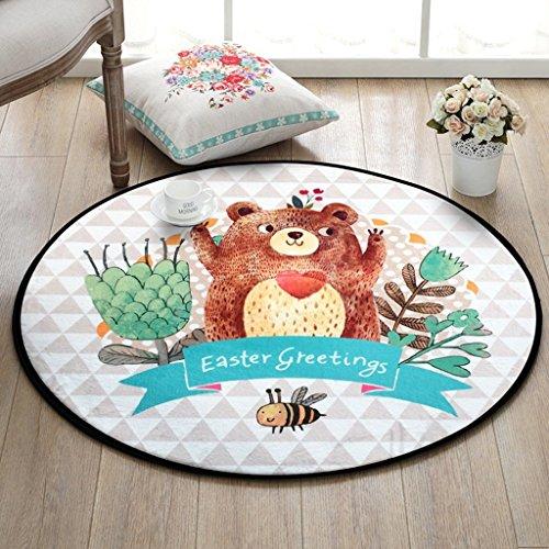 Preisvergleich Produktbild WW Teppich rund Matratzen Cartoon Kinder Matratzen Schlafzimmer Nachttisch Teppich Wohnzimmer Verdickte Teppich Home Computer Kissen, Diameter 120CM