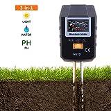 3 in 1 Bodentester, Tacklife MST01 Bodenmessgerät mit drei Funktion: Feuchtigkeitsmesser, Sonnenlicht-Intensitäts-Meter und Boden-pH-Prüfvorrichtung für Rasen, Bauernhof, Pflanzen und Kräuter, ein genauer und nützlicher Gartenhilfsmittel-u. Pflanzenpflege-Prüfvorrichtung (keine Batterie benötigt)