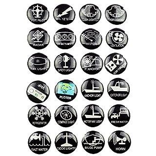 24 Schaltsymbole Symbol Aufkleber für Schalter Boot Schaltpaneel Schalttafel Schaltertafel