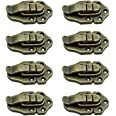 LumenTY 8 Pack Retro Style Ancient Bronze Antique Box Buckle Lock Case Lock Latches Buckle for Toolbox Suitcase-Bronze