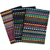 3er Pack Arbeitshandtuch ca. 48 x 86 cm / 100% Baumwolle, gewürfelte Optik, Frotteehandtuch, Handtuch dunkel, Grubenhandtuch, 2131