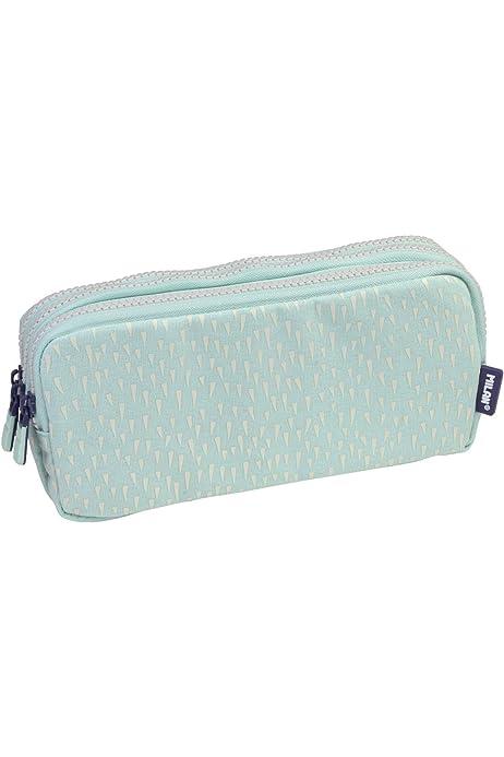 MILAN Portatodo 3 Cremalleras Knit Khaki Green Estuches, 22 cm, Verde: Amazon.es: Equipaje